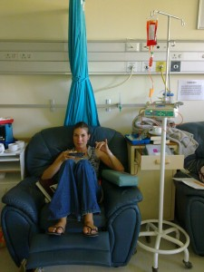 Surfer girl at chemo unit/UCT private